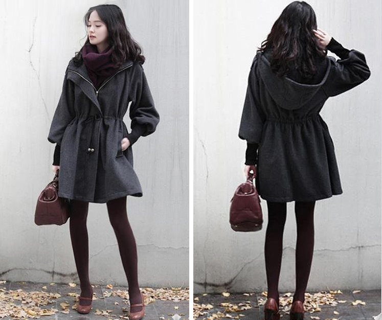 Simply Plus Size Chic Trench Coat With Hoodie