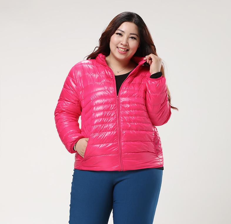 Plus Size Simple Down Jacket