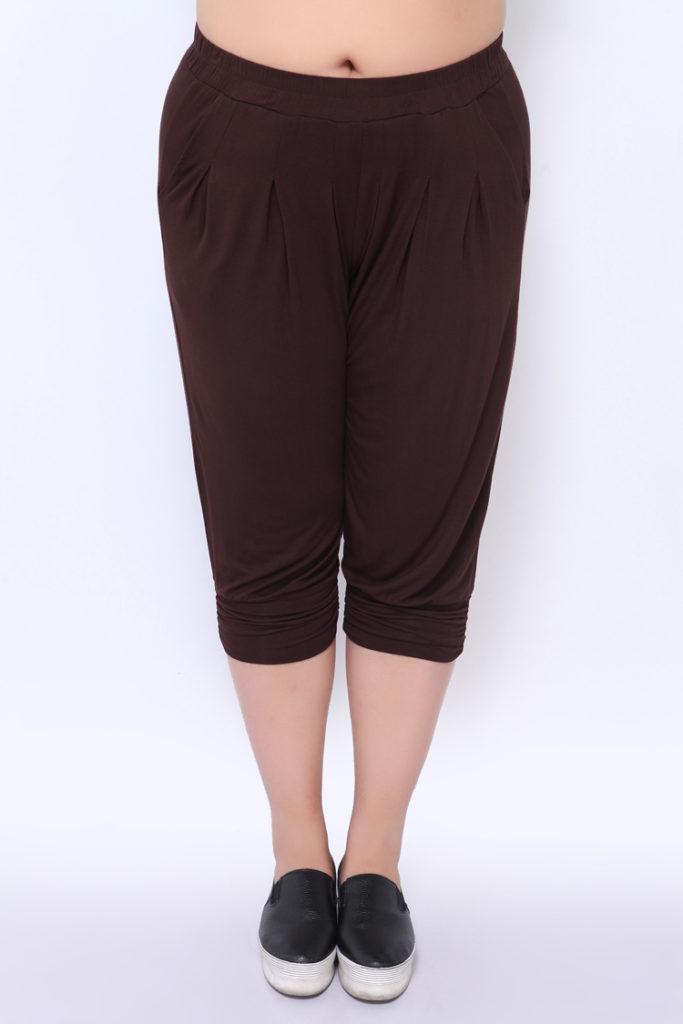 Casual Chic Elastic Waist Harem Plus Size Pant