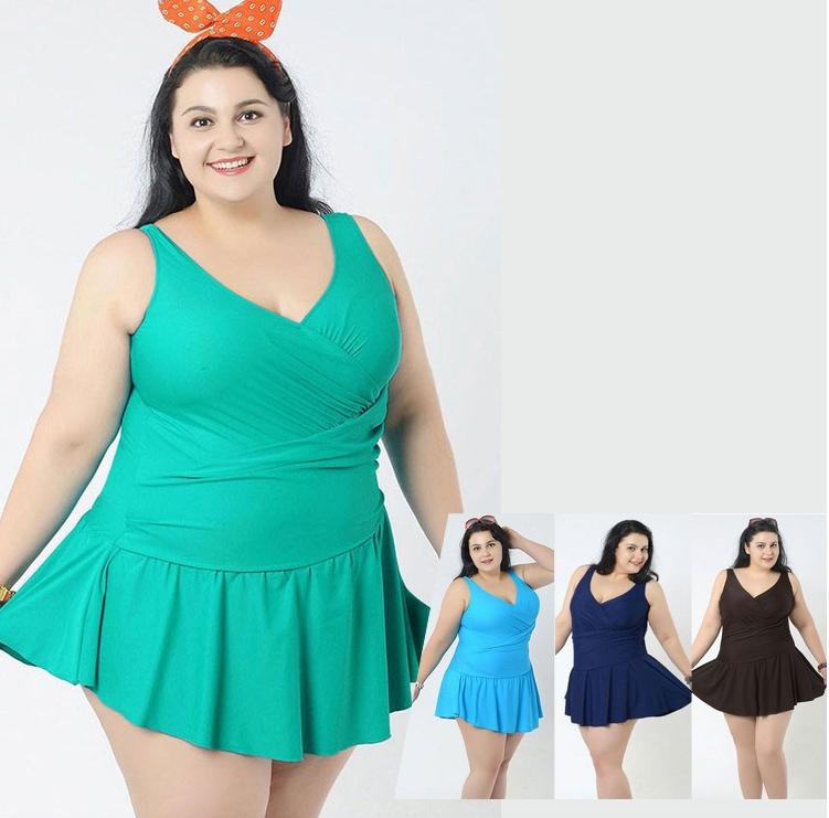 Plus Size Wrap Swimdress