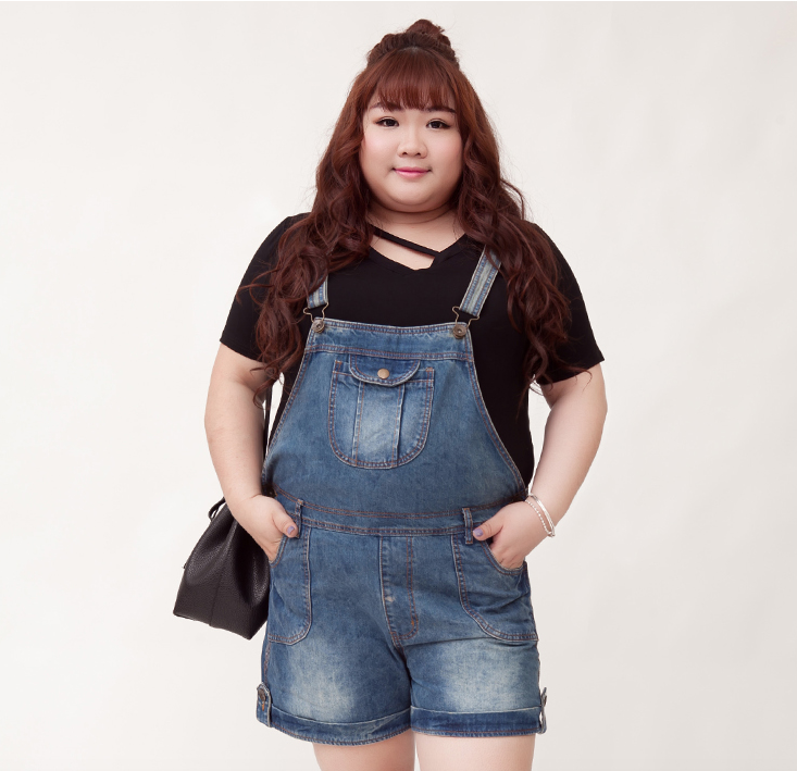 Plus Size Denim Jumper (Short Version)