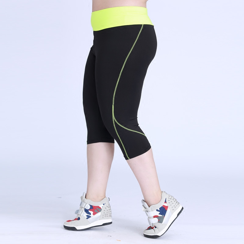 Plus Size Women Sport Studio Capri