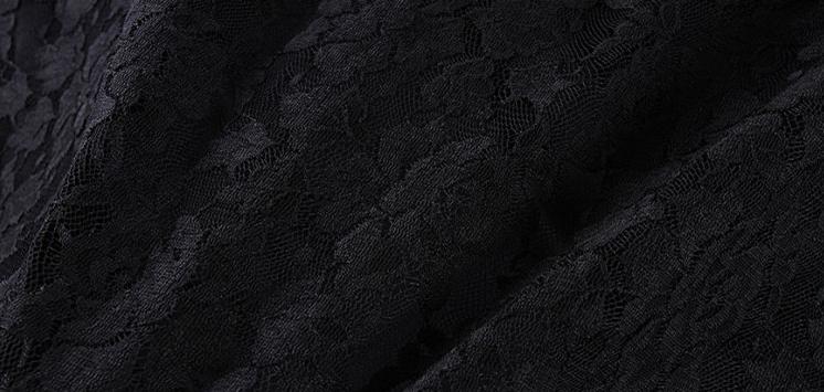 Black Lace Plus Size Poncho Dress