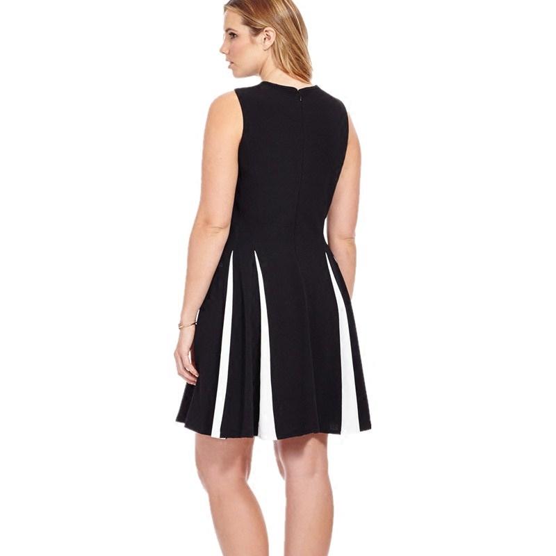 Chic Women's Casual Plus Size Splice Dress