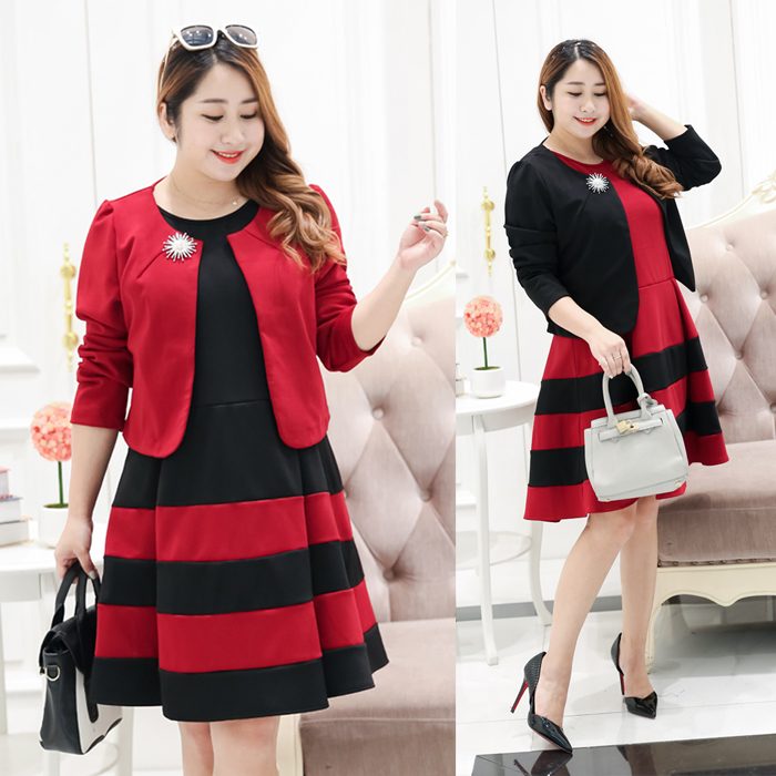 Sweet Dolly Plus Size Dress With Crop Jacket