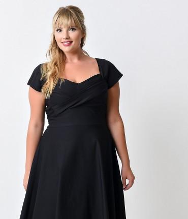 Women's Plus Size Sweetheart Wrap Dress