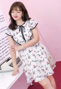 83364e35bf5a2 Plus Size Women Tropical Floral Print Sleeveless Dress - Plusylicious