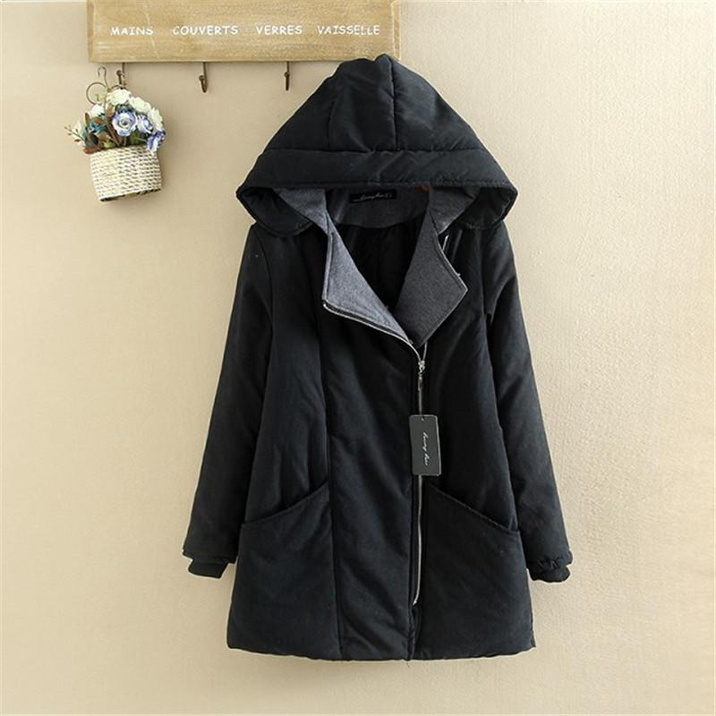 e39f30a5e0015 Plus Size Women Cotton Hooded Winter Jacket Coat - Plusylicious