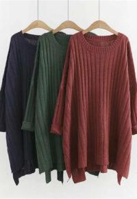 85e3438151d Women s Plus Size Knitted Long Jumper