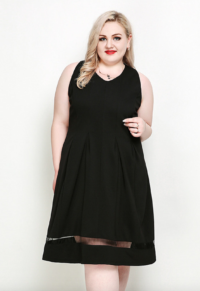e97aa987a97 Simply Plus Size Sleeveless Pleat Front Black Dress